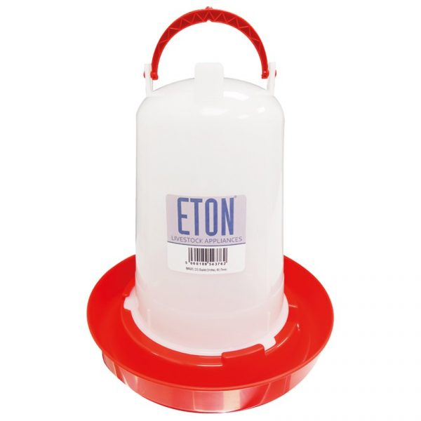 a small chicken drinker, holds 1.5 litres