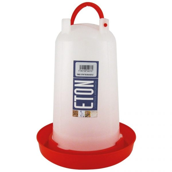 Small red chicken drinker, Holds 3 litres