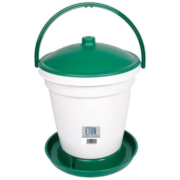 green bucket drinker for chickens