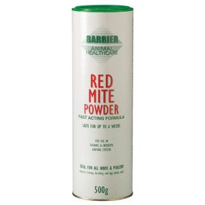 powder for treating red mite on chickens